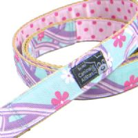 DOG LEAD - HAWAIIAN SWIRLS TURQUOISE